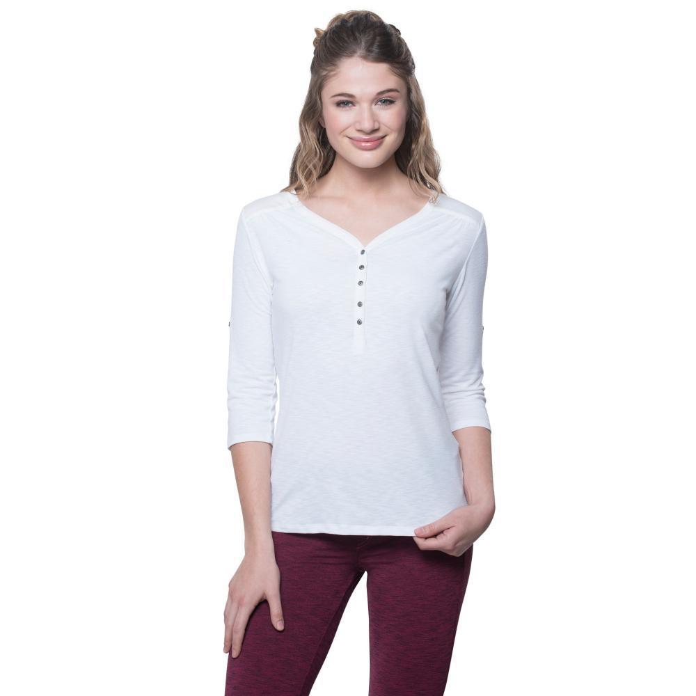 KUHL Women's Shasta 3/4 Sleeve Shirt WHITE