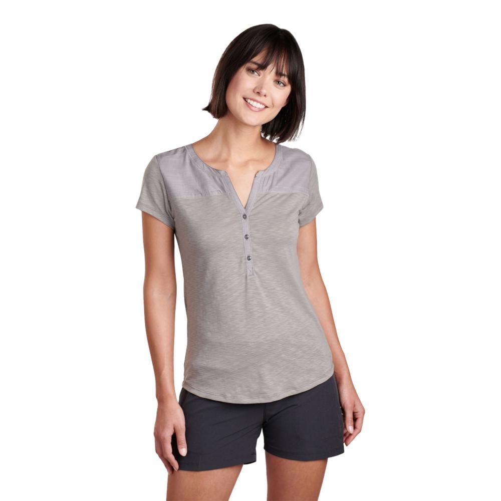 KUHL Women's Virtue Short Sleeve Shirt STONEWASH