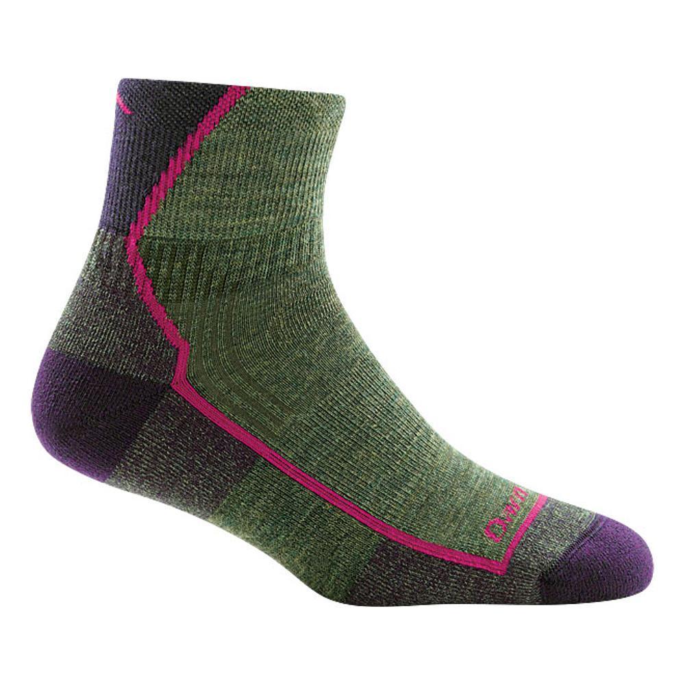 Darn Tough Women's Hiker 1/4 Cushion Socks MOSSHEATHER
