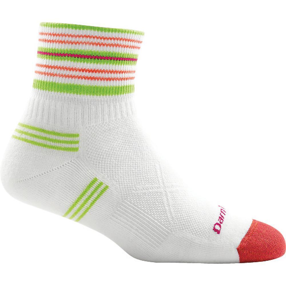 Darn Tough Women's Vertex 1/4 Ultra-Light Cushion Socks WHITE