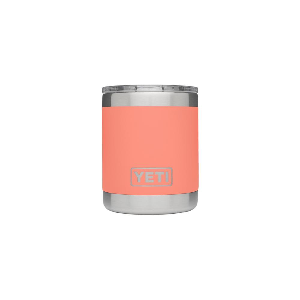 YETI Rambler 10oz Lowball Tumbler with Standard Lid CORAL
