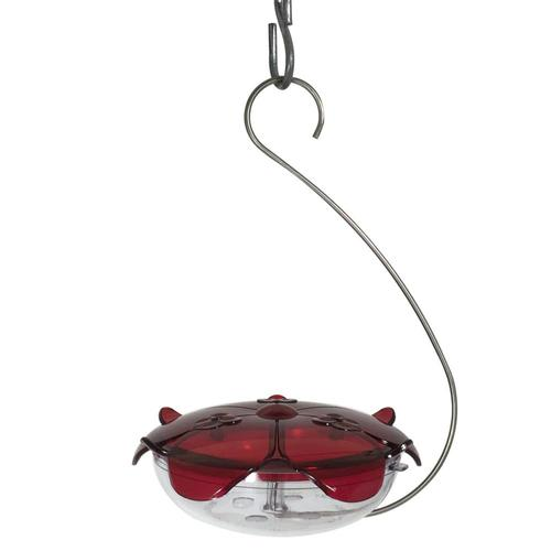 Droll Yankees Ruby Sipper Hanging Hummingbird Feeder Clear Red_clear