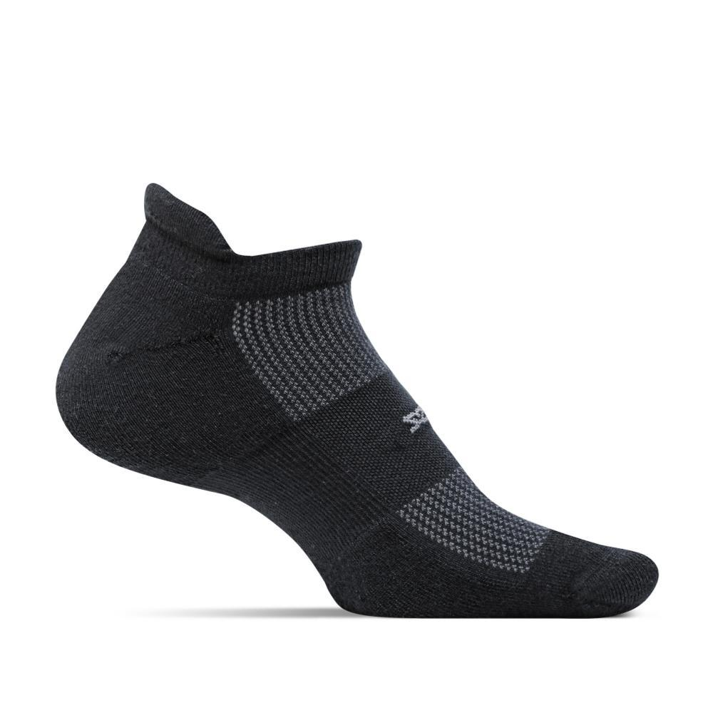 Feetures Unisex High Performance Ultra Light No Show Tab Socks BLACK
