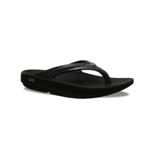 OOFOS Women's OOlala Flip Sandals Black