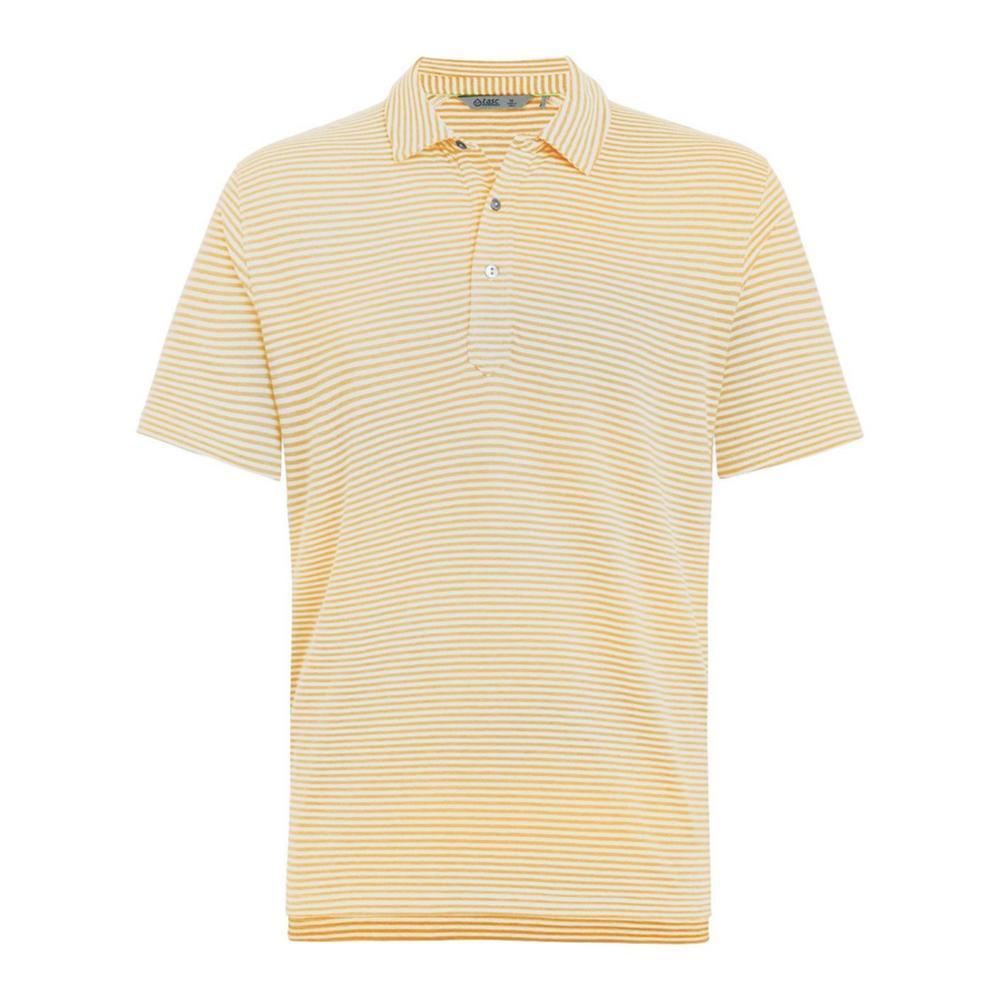 tasc Men's Air Stretch Stripe Polo Shirt SUNHT/GREY