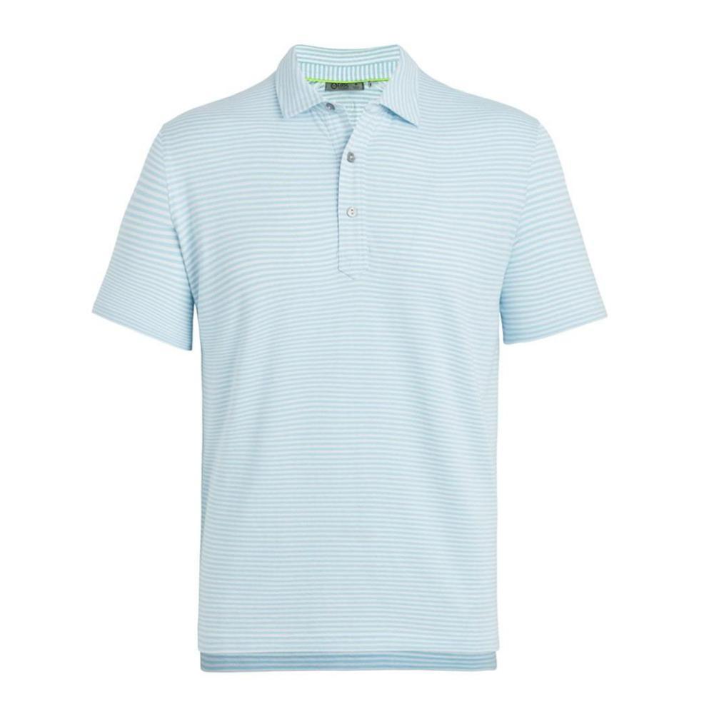 tasc Men's Air Stretch Stripe Polo Shirt WHCOBLUE