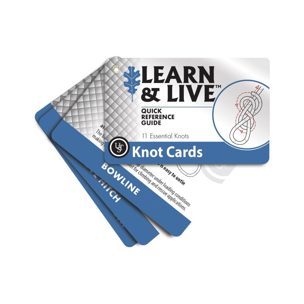 Ultimate Survival Technologies Learn & Live Cards - Knots BLU/WHT