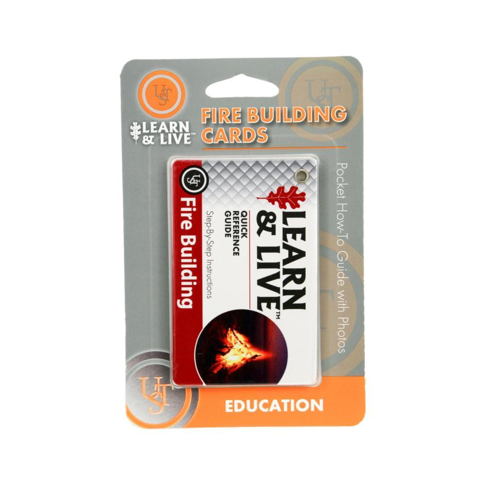 Ultimate Survival Technologies Learn & Live Cards - Fire Building RED/WHT