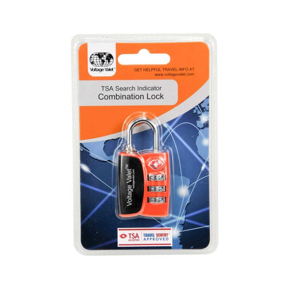 Voltage Valet 3 Dial Combination Lock With TSA Search Indicator ORANGE