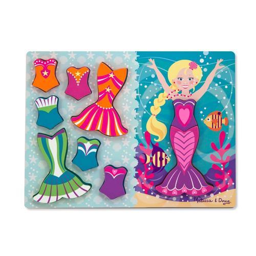 Melissa & Doug Mermaid Dress-Up Chunky Puzzle - 9Pc