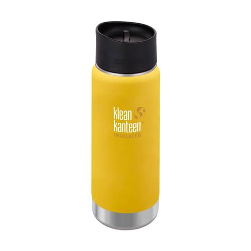 Klean Kanteen Wide Insulated Bottle w/Cafe Cap - 16oz Lemon_curry