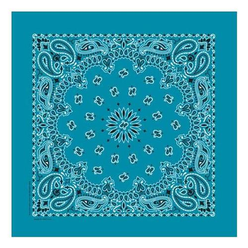 Bandanna Company Paisley Bandanna Turquoise