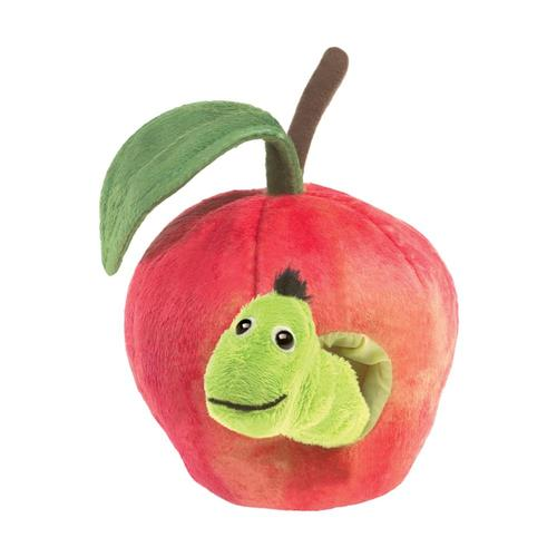 Folkmanis Worm in Apple Finger Puppet