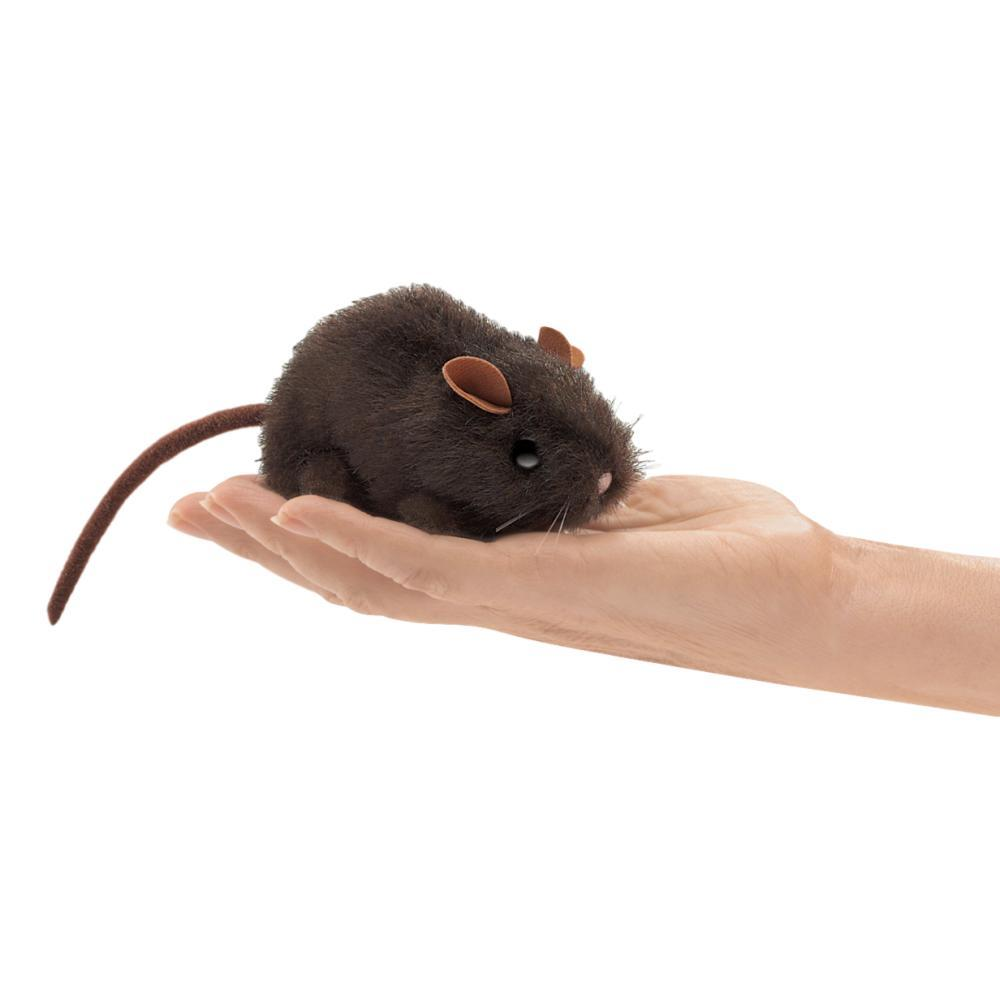 Folkmanis Mini Brown Mouse Finger Puppet