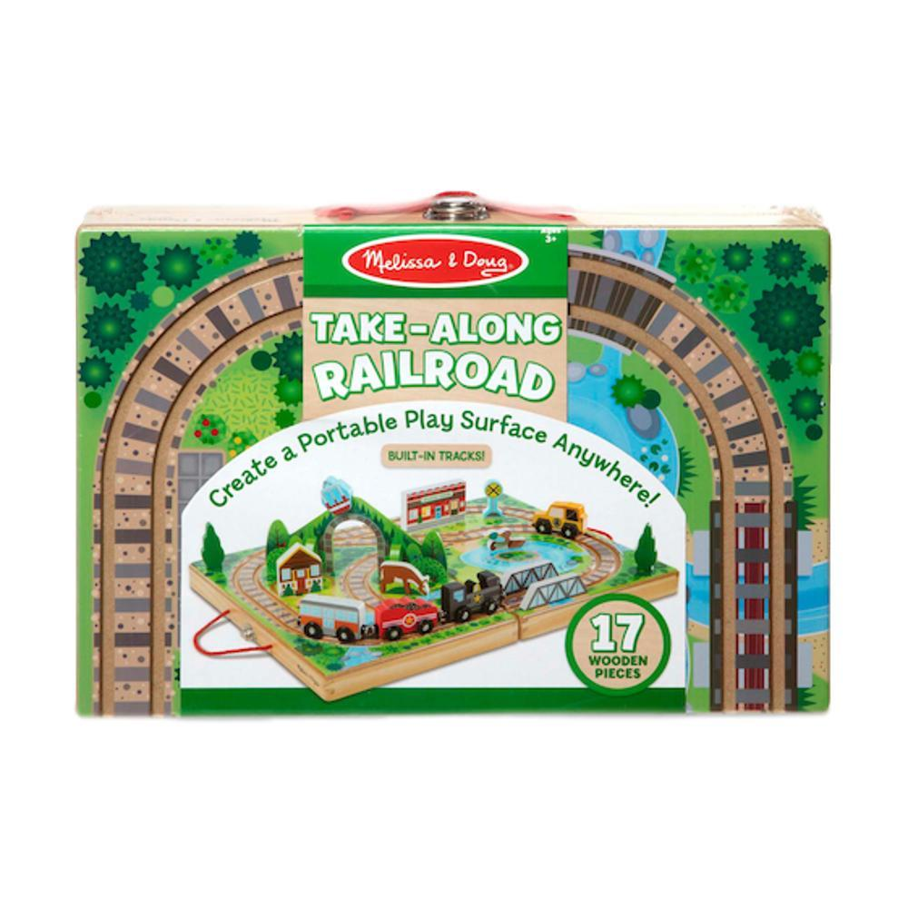 Melissa & Doug Take- Along Railroad Set