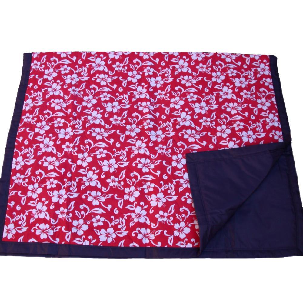 Tuffo Red Hawaii Water Resistant Outdoor Blanket RED.HAWAII