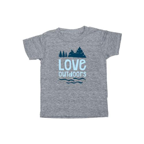 Locally Grown Kids Love Outdoors Tee Vint.Grey