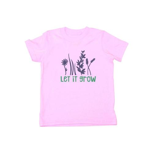 Locally Grown Kids Let It Grow Tee Pink