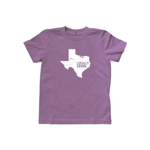 Locally Grown Kids Texas Solid State Tee Eggpurple # 25