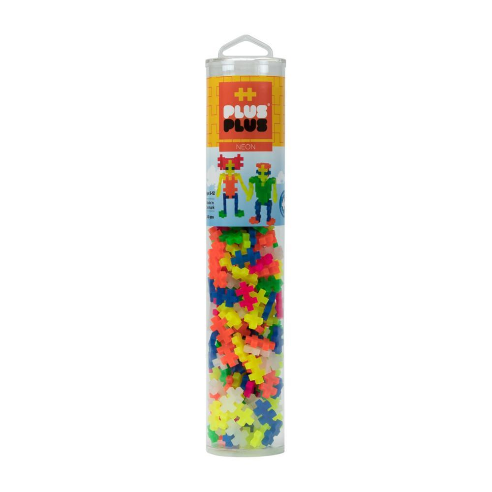 Plus- Plus Open Play Tube - 240 Piece Neon Mix
