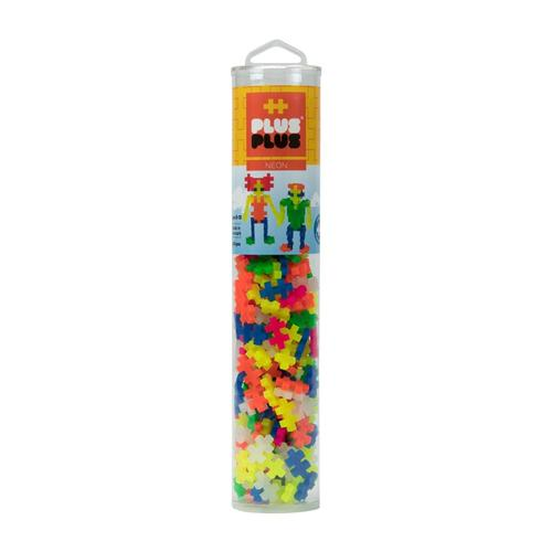 Plus-Plus Open Play Tube - 240 Piece Neon Mix