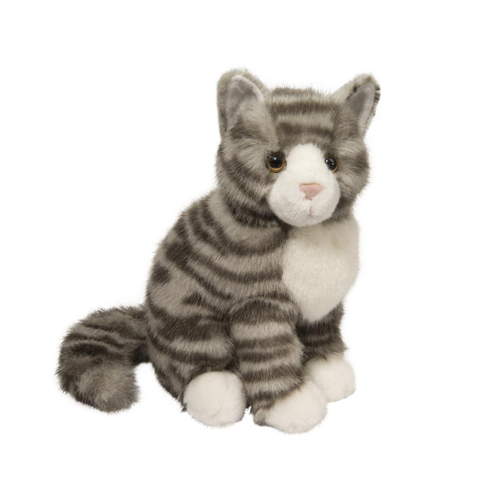 Douglas Toys Nickel Gray Stripe Cat Stuffed Animal