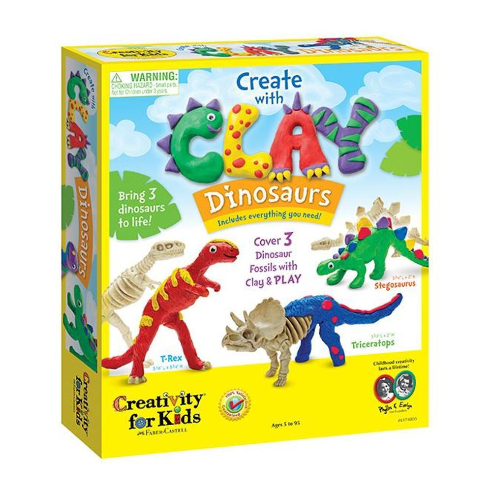 Faber- Castell Creativity For Kids Create With Clay Dinosaurs