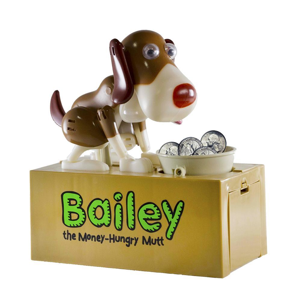 Leading Edge Bailey The Money- Hungry Mutt Coin Bank