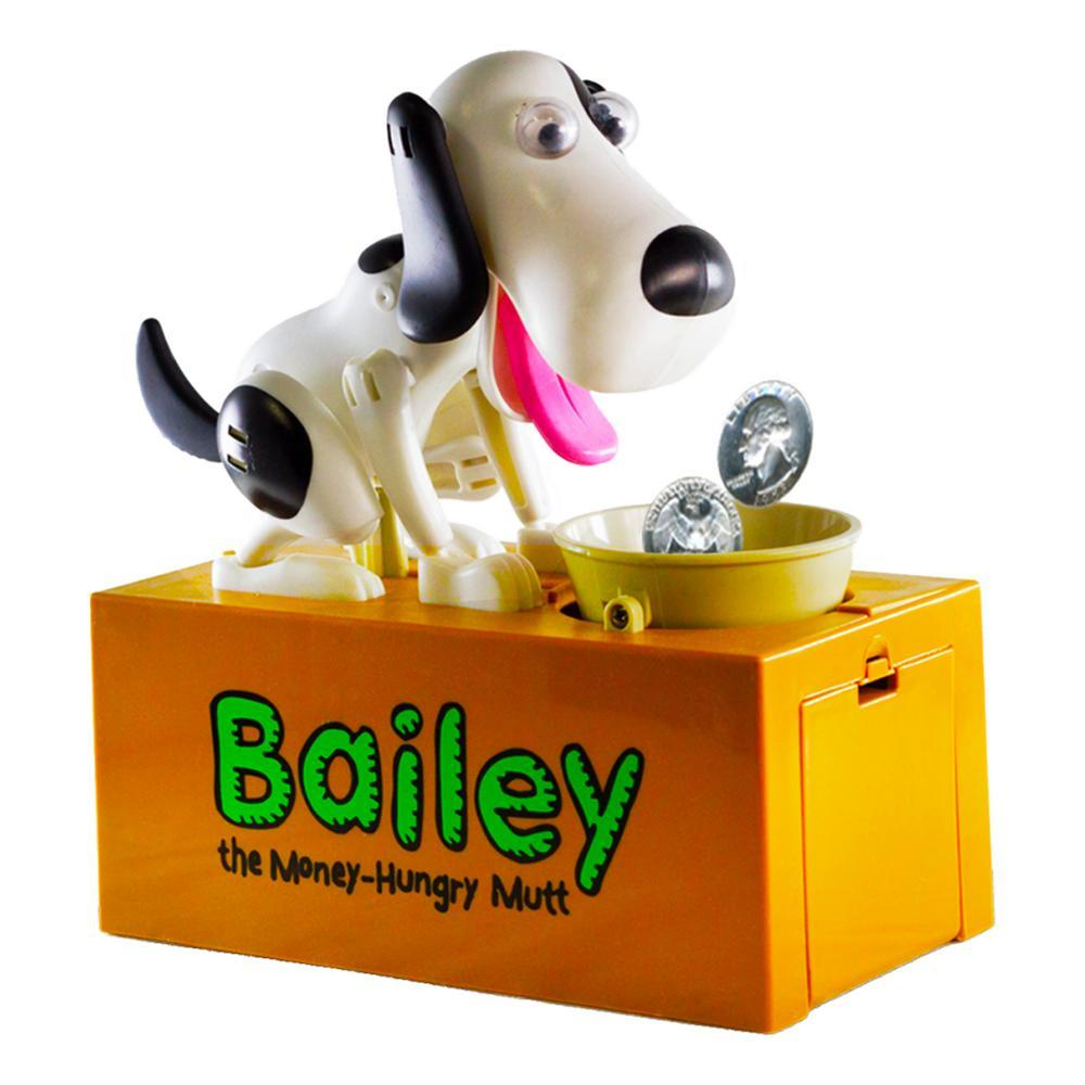 Leading Edge Bailey the Money-Hungry Mutt Coin Bank WHITE_BLK