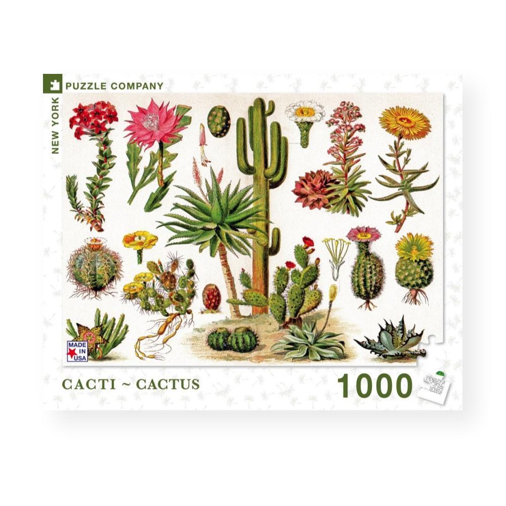 New York Puzzle Company Cacti - Cactus Jigsaw Puzzle