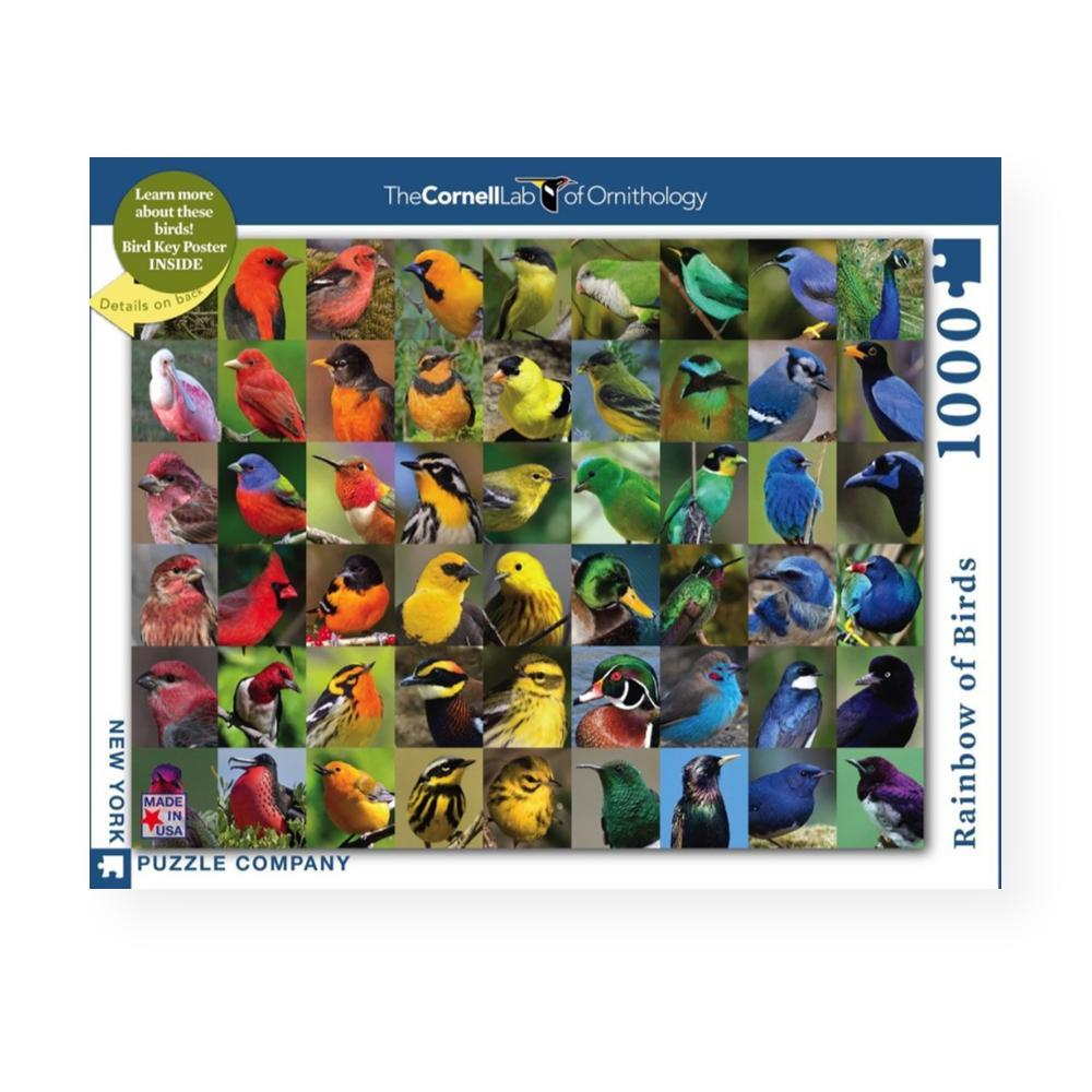 New York Puzzle Company Rainbow Of Birds Jigsaw Puzzle