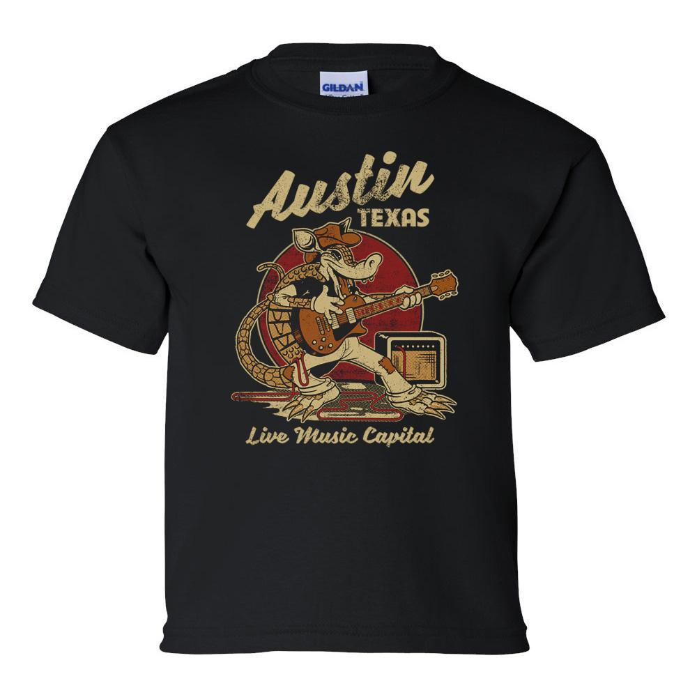 Outhouse Designs Youth Austin Rockadillo T-Shirt BLACK