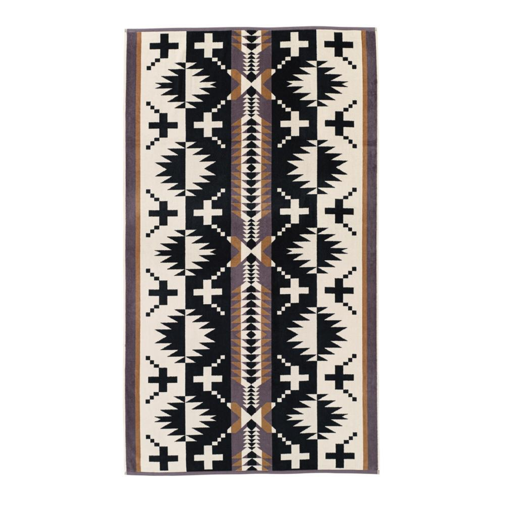Pendleton Spider Rock Oversized Jacquard Towel BLACK/WHITE
