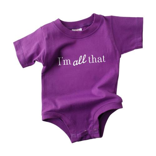 Wry Baby Infant I'm All That and Dim Sum Onesie
