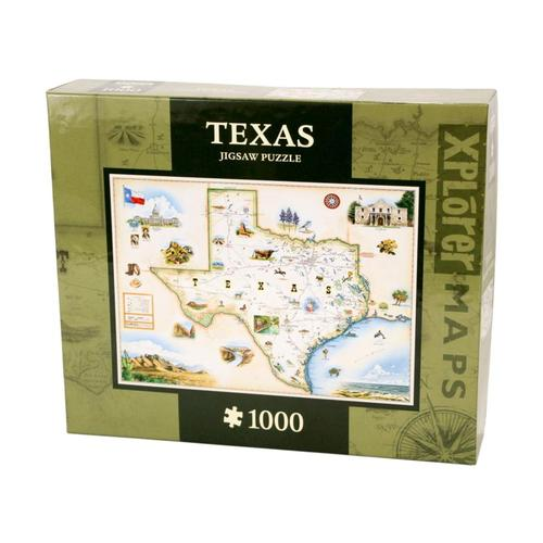 Xplorer Texas Map 1000 Piece Jigsaw Puzzle