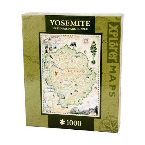 Xplorer Yosemite Map 1000 Piece Jigsaw Puzzle