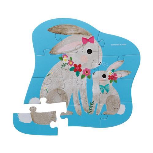 Crocodile Creek Bunny Love Mini Jigsaw Puzzle - 12pc