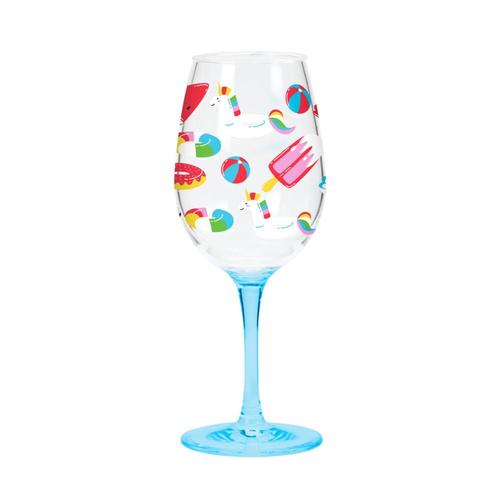 C.R. Gibson Acrylic Wine Glass Set - Float