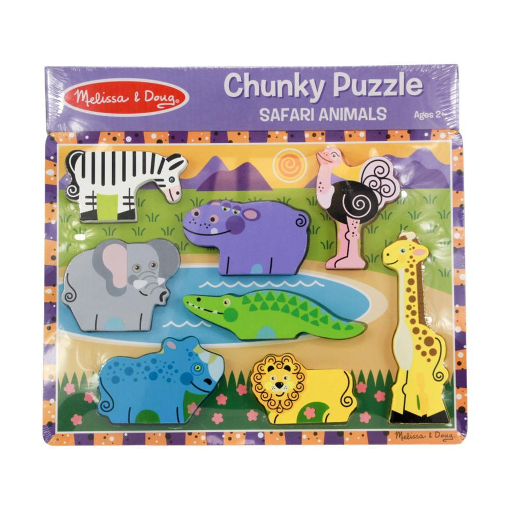 Melissa & Doug First Play Wooden Safari Chunky Puzzle