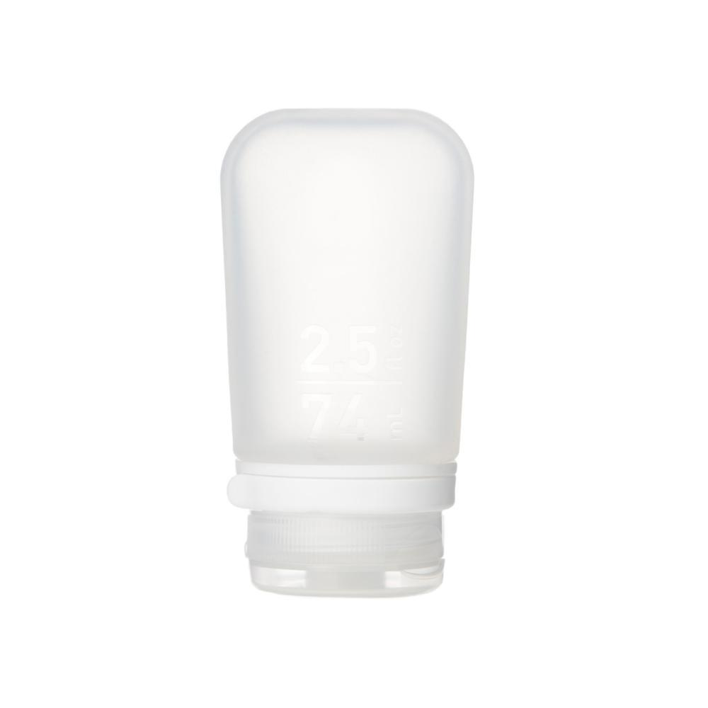 humangear GoToob+ 2.5oz Silicone Bottle CLEAR