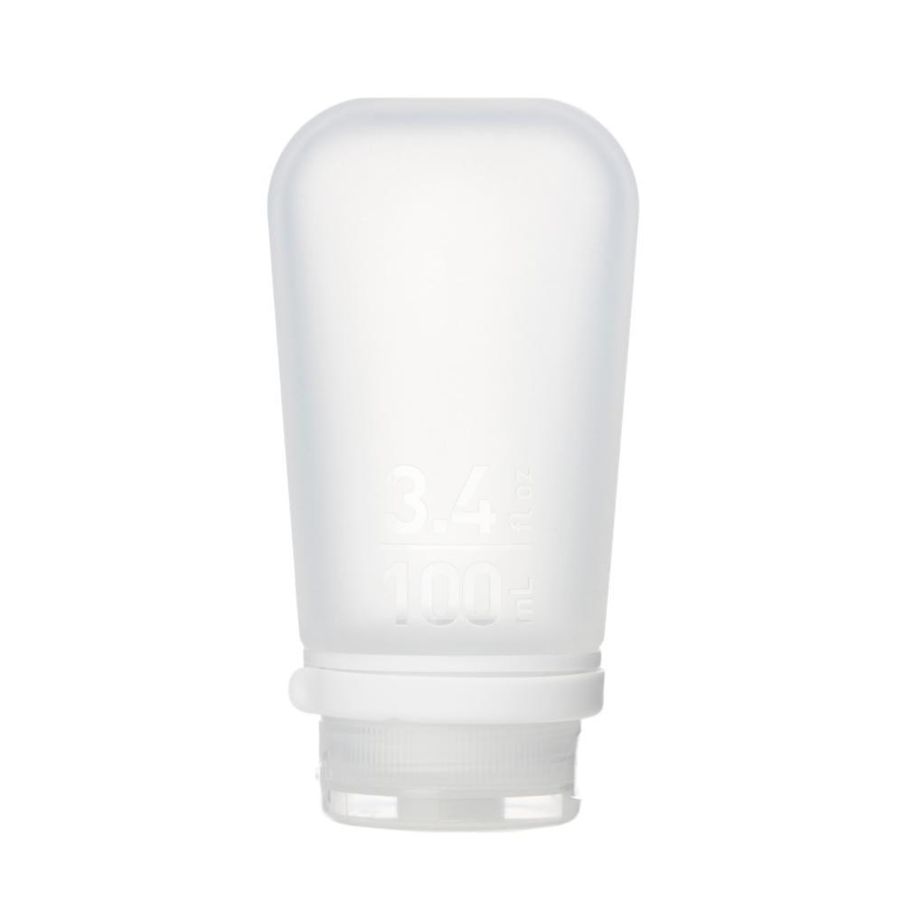 humangear GoToob+ 3.4oz Silicone Bottle CLEAR