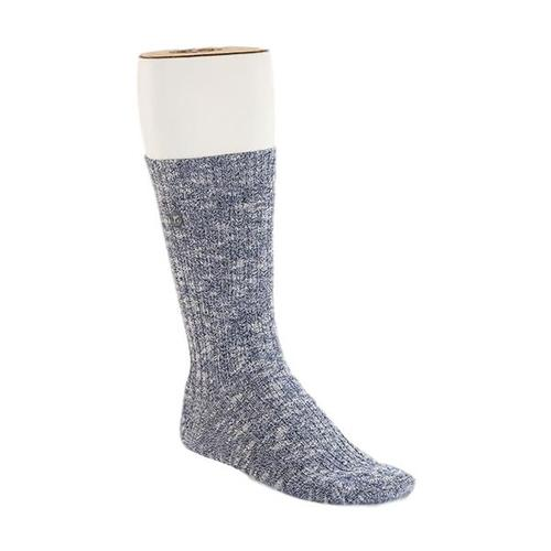 Birkenstock Men's Cotton Slub Socks Blue/White