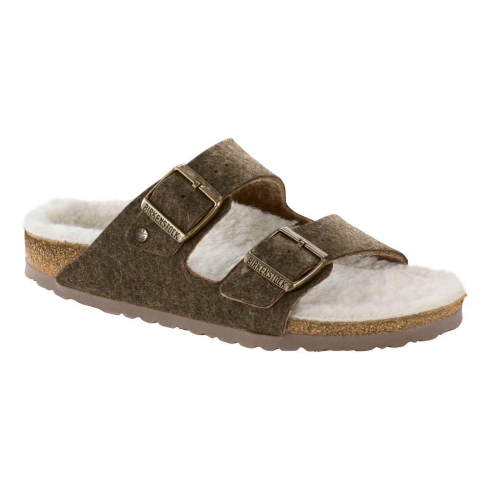 Birkenstock Men's Arizona Wool Felt Sandals DFKHAKI