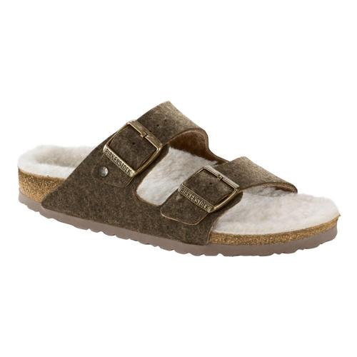 Birkenstock Men's Arizona Wool Felt Sandals Dfkhaki