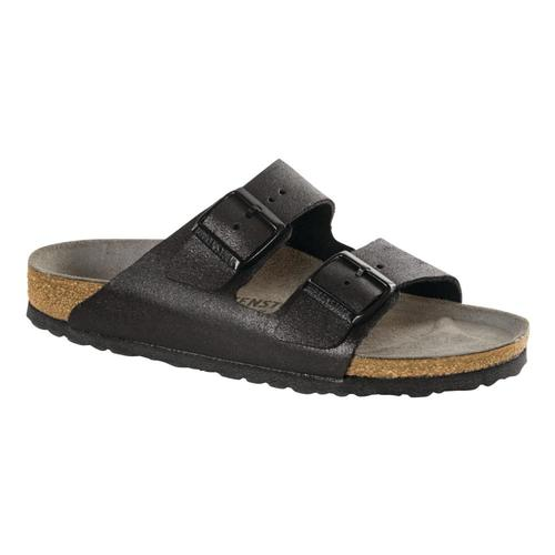 Birkenstock Women's Arizona Leather Sandals Metalblk