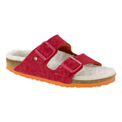 Birkenstock Women's Arizona Happy Lamb Sandals Fuchsia