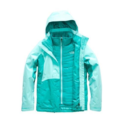 The North Face Women's Mossbud Swirl Triclimate Jacket Mtblu.Kogrn_7bm