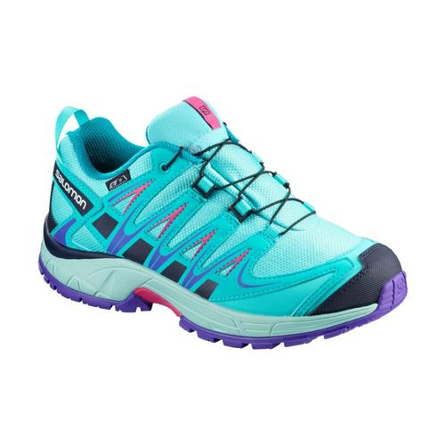 Salomon Kids XA PRO CSWP J Running Shoes Bluecara