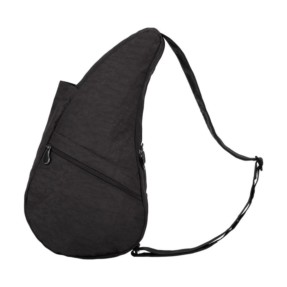 AmeriBag Healthy Back Bag Distressed Nylon Shoulder Bag - Small BLACK