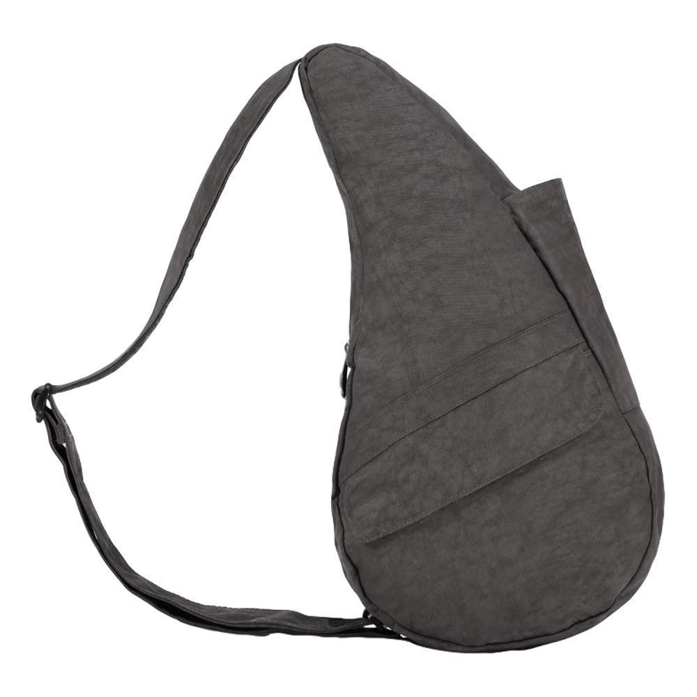 AmeriBag Healthy Back Bag Distressed Nylon Shoulder Bag - Small STORMYGREY